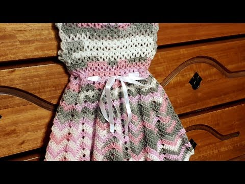 Vestido Bebe Crochet (ganchillo) Tutorial Paso A Paso