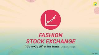 Control the market with your moves and get the fashion brands you love at prices like never before. Only on the #FlipkartFashionDays #FashionSaleLikeNeverBefore Check it out: http://bit.ly/2rBeQSI