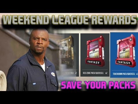 WHAT WOULD TERRY CREWS DO | WEEKEND LEAGUE REWARDS | MADDEN 18