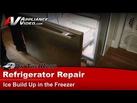 Jenn-Air Refrigerator Repair – Ice build up in the freezer – JFC2089WEM3