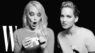 Video Jennifer Lawrence and Emma Stone Have a Lot in Common | Screen Tests | W Magazine MP3, 3GP, MP4, WEBM, AVI, FLV Oktober 2018