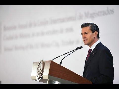 Peña Nieto en la 59 Reunión Anual de la Unión Internacional de Magistrados