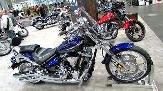 6. 2014 Yamaha Raider S XV1900S Galaxy Blue Walkaround - 2013 New York Motorcycle Show
