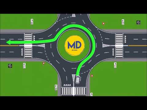 How to drive at roundabout