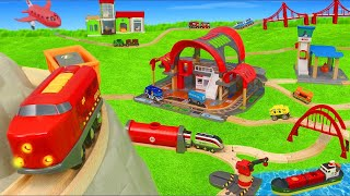 Video Train Toys: Fire Truck, Police Cars, Tractor & Wooden Railway Toy Vehicles for Kids MP3, 3GP, MP4, WEBM, AVI, FLV Maret 2019