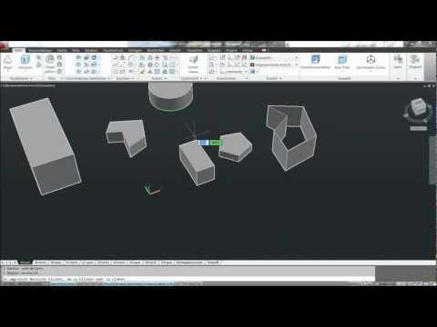 AutoCAD 2012 Schulung Deutsch / Neunte Lektion – 3D Objekte erstellen und bearbeiten