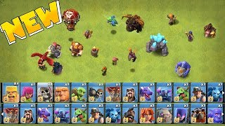 """Video ALL TROOPS LEVELED UP!! """" clash of clans """"  MAX TROOPS & SPELLS!! MP3, 3GP, MP4, WEBM, AVI, FLV September 2018"""