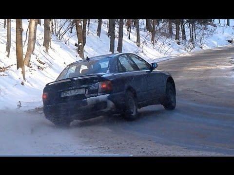 audi a4 2.6 v6 rally e drift sulla neve!