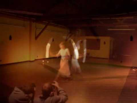 "Dancing with fire poi to ""Gabriel"" by Lamb"