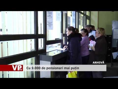 Cu 9.000 de pensionari mai puțin