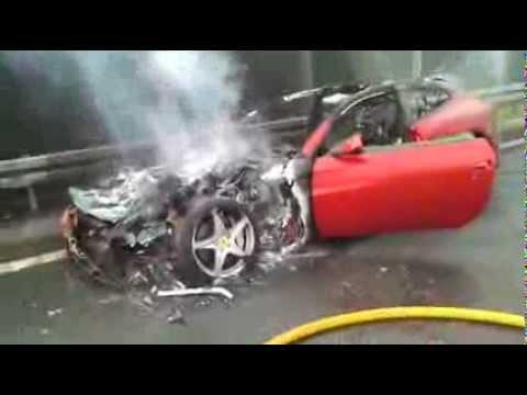 Ferrari FF on fire - Poland
