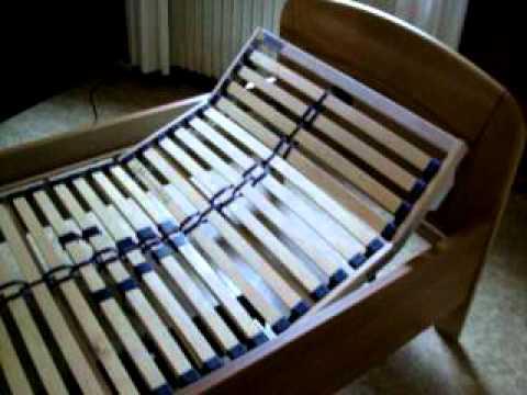 Bett Lattenrost 100x200 cm Kopf u. Fußteil elektrisch höhenverstellbar steht zum Verkauf bei ebay