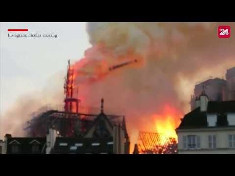 Khoảnh khắc tháp chuông nhà thờ Đức bà ở Paris đổ sập trong vụ hỏa hoạn| VTV24 - Thời lượng: 0:25.