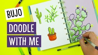 Bullet Journal Doodle with Me: Cactus | Sea Lemon