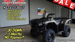8. 2016 Honda Foreman Rubicon Camo DCT EPS / TRX500FA6 - Chattanooga TN ATV Dealer