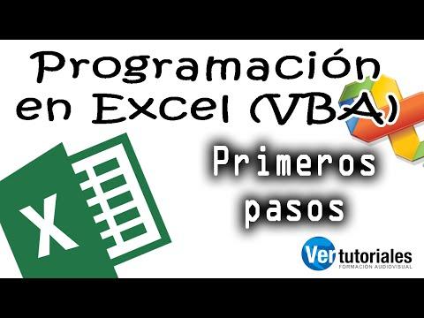 VBA – Programación en Excel, activar menú de programación