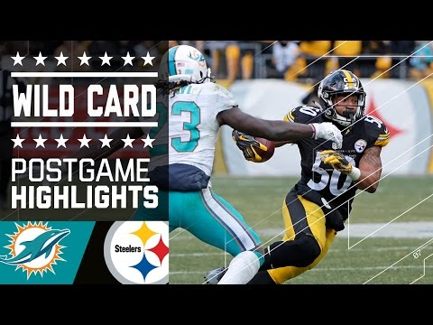 Dolphins vs. Steelers | NFL Wild Card Game Highlights (видео)