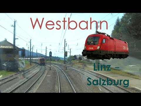 Führerstandsmitfahrt Westbahn Linz - Salzburg [HD] Railjet - Cab Ride ÖBB 1116
