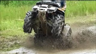 1. CAN AM OUTLANDER 800 vs OTHER BIKES MUDDING IN MUD PIT! ATV RODEO