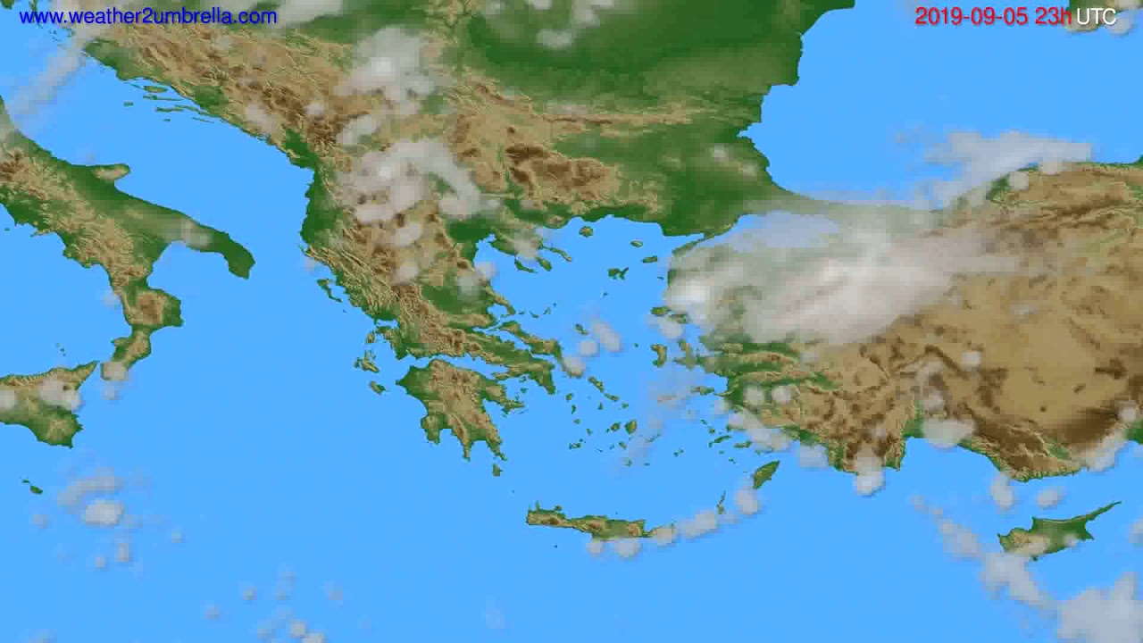 Cloud forecast Greece // modelrun: 12h UTC 2019-09-02