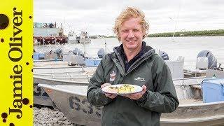 Roasted Whole Salmon & Potato Salad | Alaska | Bart's Fish Tales by Jamie Oliver