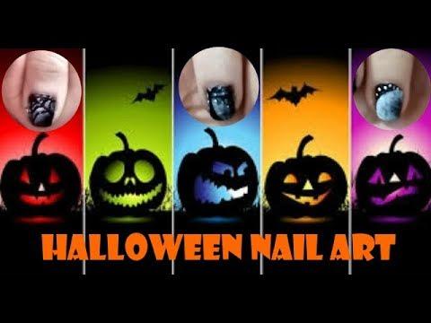 Modelos de uñas - Decoración de Uñas para Halloween  Halloween Nail Art Diseños de  Manicura  #SweetColorArt