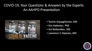 AAHPO Town Hall: COVID-19 Questions & Answers about Vaccine