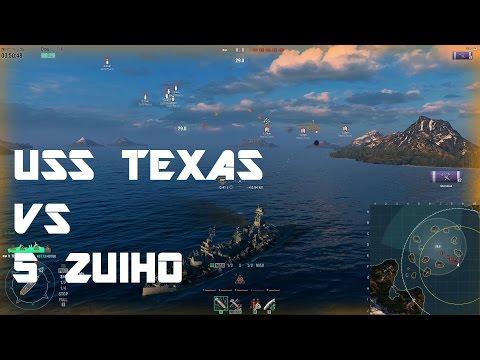 AA Test - USS Texas vs 5 Zuihos!
