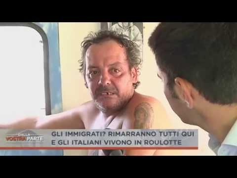 italiani costretti a vivere nei camper e gli alloggi ai clandestini!