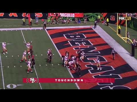 Jeff Wilson scores his second touchdown 49ers vs Bengals
