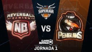 SUPERLIGA ORANGE - NEVERBACK VS PENGUINS - Jornada 1 - #SuperligaOrangeCR1