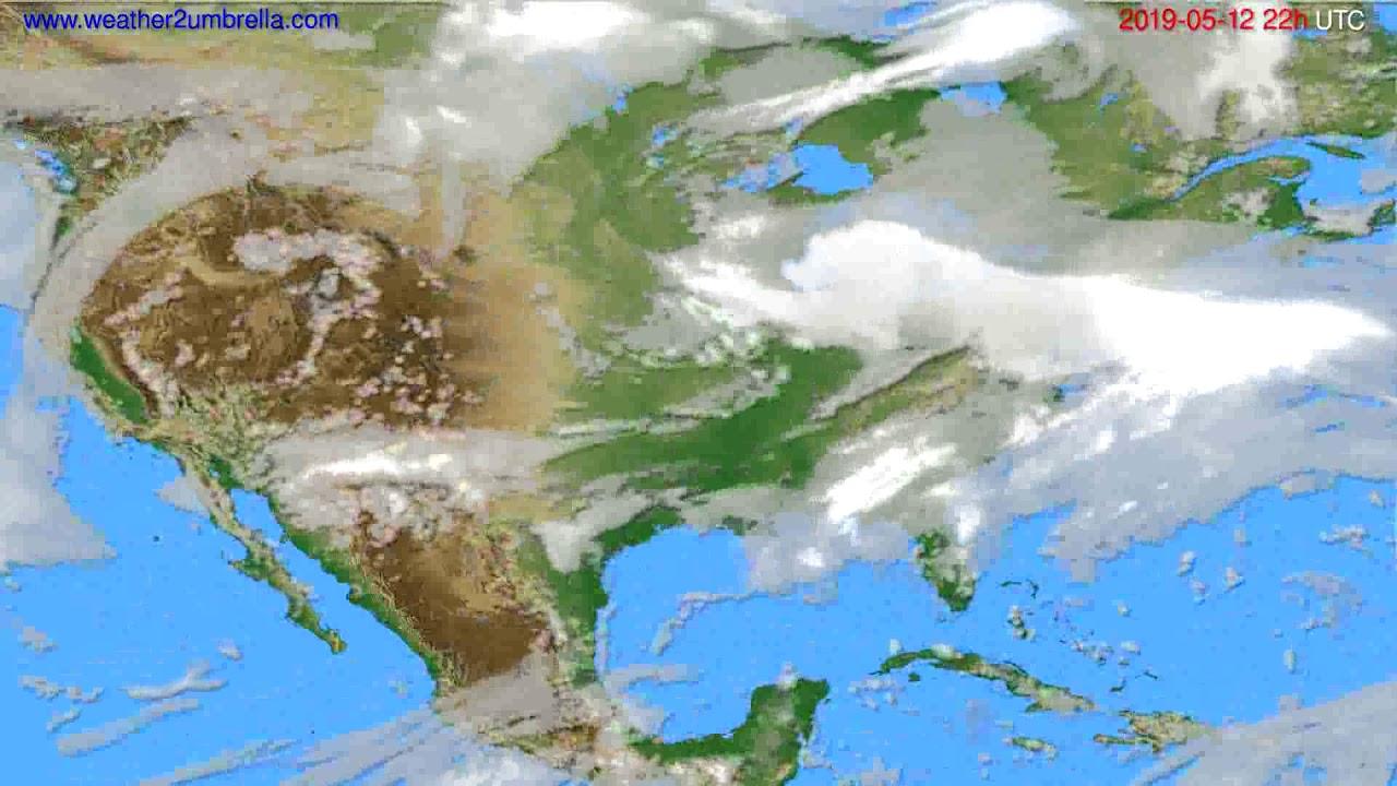 Cloud forecast USA & Canada // modelrun: 00h UTC 2019-05-10