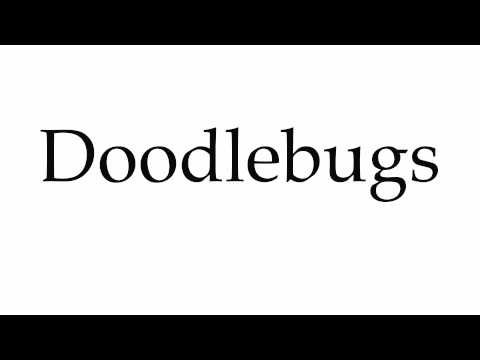 How to Pronounce Doodlebugs