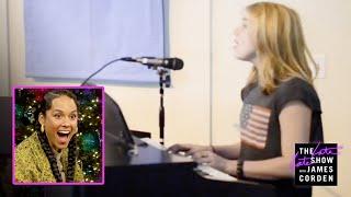 Billie Eilish Surprises Alicia Keys w/ a Home Video 'Fallin' Cover