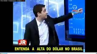Se nós abandonarmos a Globo para obter informação, o ganho será imenso. Vejam como a Record News esclareceu os motivos para a alta do dólar.