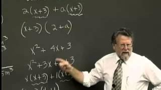 Lecture 24: Beginning Algebra (Math 70)