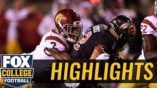 (24) Utah Utes knock off USC Trojans with TD on final drive - 2016 College Football Highlights by FOX Sports