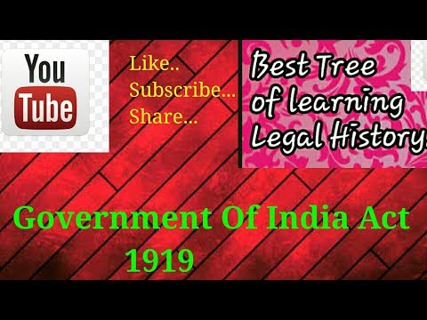 Government Of India Act 1919 Or Montagu Chelmsford Reforms