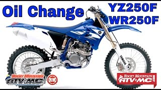 2. YZ250f and WR250f Oil Change Instructions - (YZ & WR 250f dirt bike)