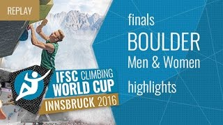 IFSC Climbing World Cup Innsbruck Highlight Bouldering Finals by International Federation of Sport Climbing