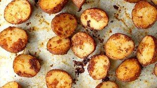 Pommes de terre croustillantes, au parmesan