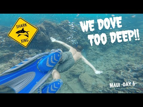WE DOVE TOO DEEP IN MAUI SHARK INFESTED WATER! (SCARY!) (видео)