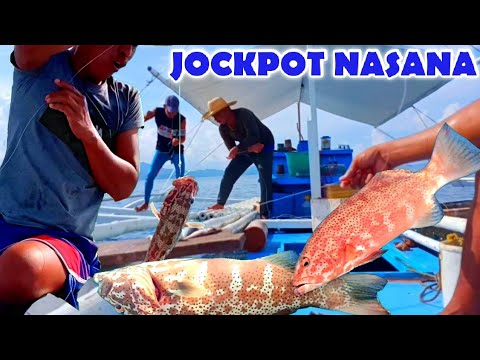 JOCKPOT NASANA KASI NAKAHULI NG RED GROUPER/LAPU-LAPU, PERO DI INAASAHAN PAG-UWI