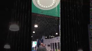Wasserkreis für Präsentation von spritzwassergeschützten Produkten