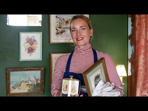 My friend sent me a box of ANTIQUES!   Antique UNBOXING   Come decorate with me!