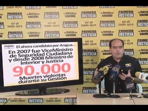 Julio Borges: Bajo la gestión de Tareck El Aissami 90 mil venezolanos fueron asesinados