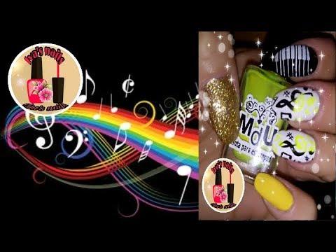 Diseños de uñas - Diseño de uñas musical