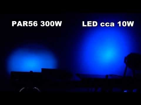 7x10W LED PAR vs halogen PAR56 300W comparison