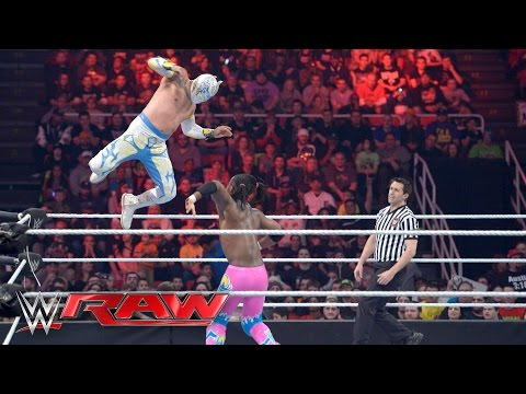 Neville & The Lucha Dragons vs. The New Day: Raw, February 22, 2016