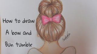 Video How to draw a bow & bun tumblr hair MP3, 3GP, MP4, WEBM, AVI, FLV Desember 2018